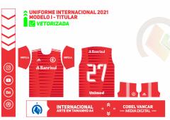 UNIFORME TITULAR INTERNACIONAL 2021 + FONTE