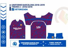 Uniforme Barcelona 2018 / 2019 - TREINO 2