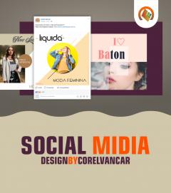 Pacote Social Midia Moda, para Instagram e Facebook
