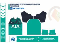 Uniforme Tottenham 2018-2019 - TERCEIRO