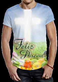 Modelo de Camiseta Feliz Páscoa