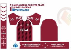 Uniforme Grená do River Plate 2019-2020