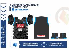Uniforme Napoli 2018-19 - RESERVA - FORA
