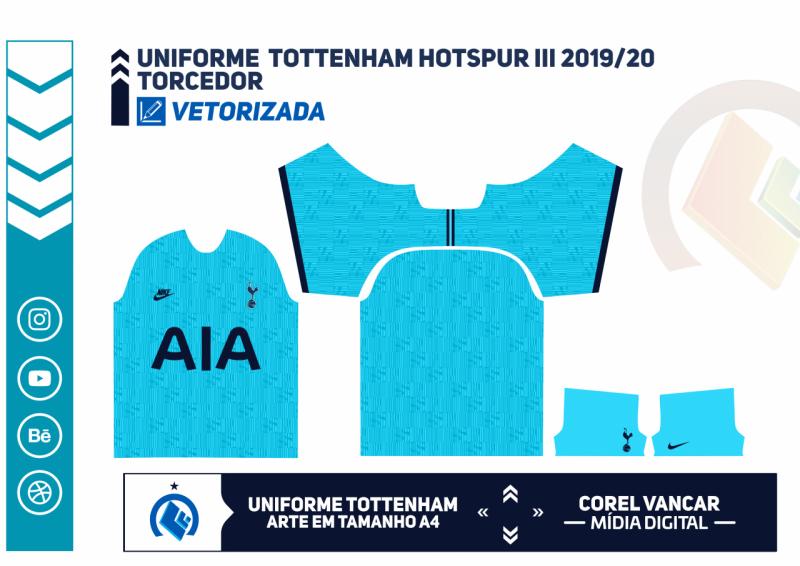 Terceiro Uniforme Tottenham 2019 2020