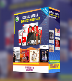 Kit Social Media, para Eventos Musicais (Redes FACEBOOK, INSTAGRAM E WHATSAPP)
