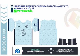 Uniforme reserva Chelsea 2020-21 (Away kit)
