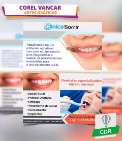 Modelo de Panfleto / Folder para Dentistas e Clínica Dentária