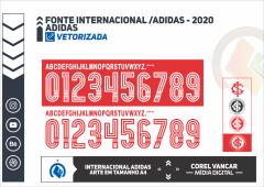 FONTE INTERNACIONAL - ADIDAS - 2020 em CorelDRAW e para Instalar