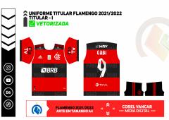 Template Camisa do Flamengo 2021/2022 + Fonte