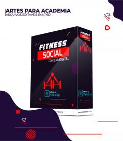 PACOTE SOCIAL MEDIA PARA ACADEMIA - EDITÁVEL NO PHOTOSHOP