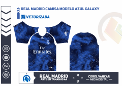 UNIFORME REAL MADRID CAMISA MODELO AZUL GALAXY