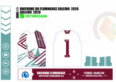 UNIFORME DO FLUMINENSE GOLEIRO / 2020