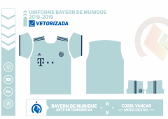 Uniforme Bayern de Munique 2018-2019 - 2