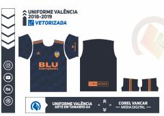 Uniforme Valência 2018-2019 - 2