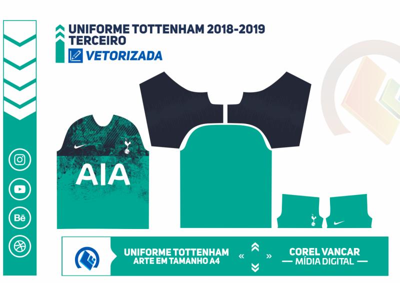 Uniforme Tottenham 2018 2019 Terceiro