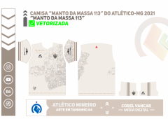"""Camisa """"Manto da Massa 113"""" do Atlético-MG 2021"""